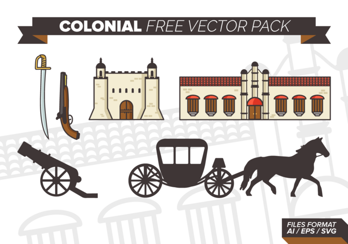 Colonial Free Vector Pack