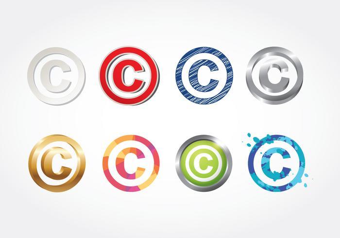 Copyright symbol vektor
