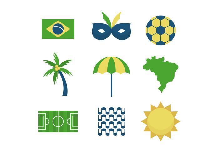 Icônes vecteur libre Brésil
