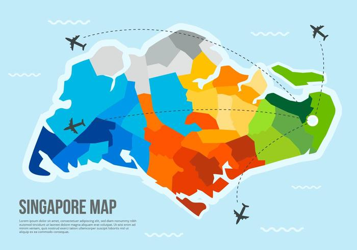 Free Singapore Map Vector Download Free Vector Art Stock - Singapore map vector