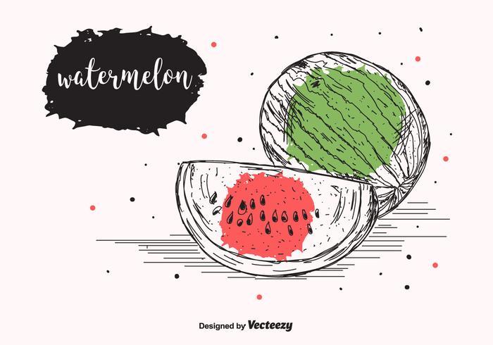 Wassermelone Vektor Hintergrund