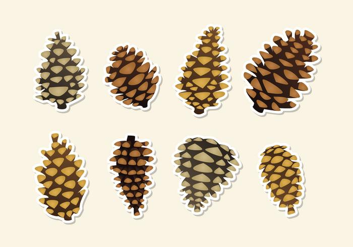 the gallery for gt pine cone icon vector