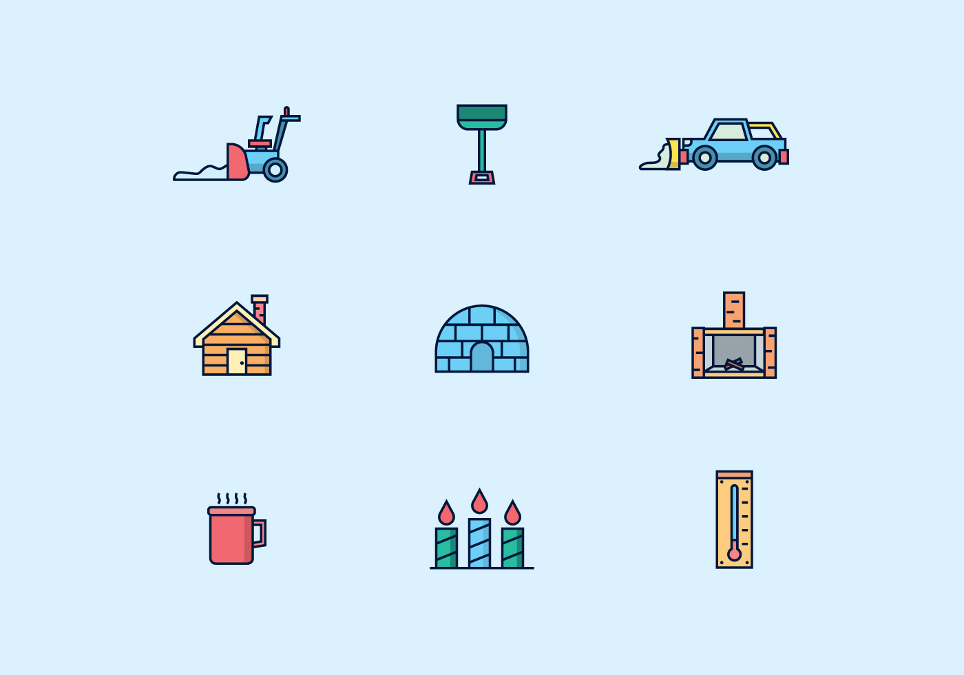 Icon Pack Of Winter Icons Download Free Vectors Clipart