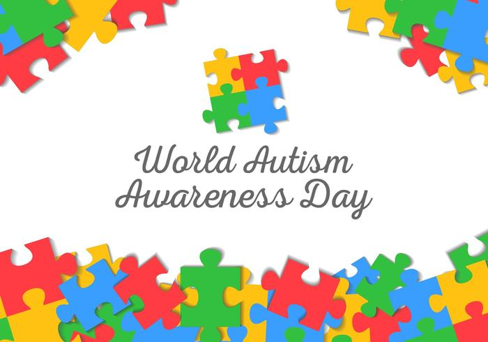 Free World Autism Awareness Day Bakgrund Vector