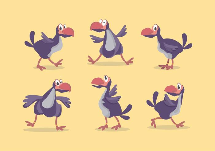 Dodo Vogel Vector Set