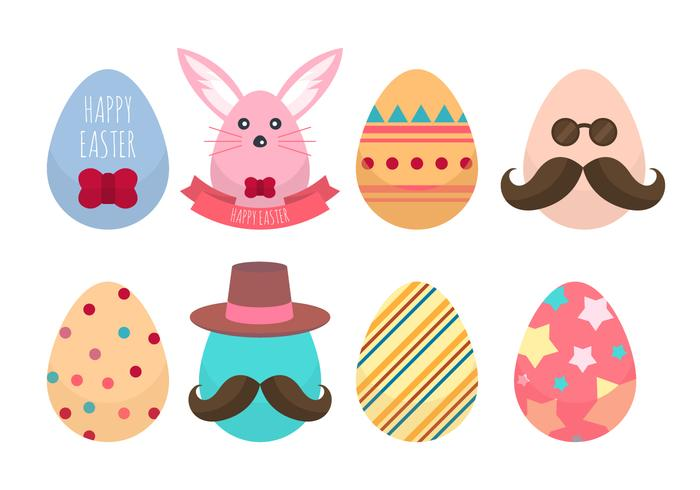 Free Hipster Easter Egg Collections Vector