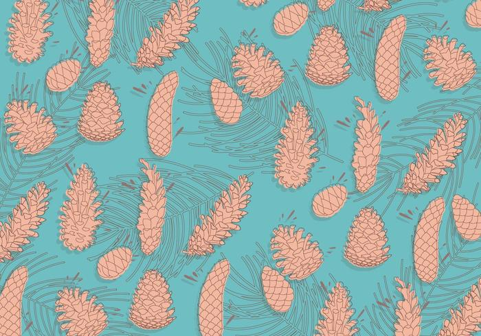 Pine Cones Pattern Vector
