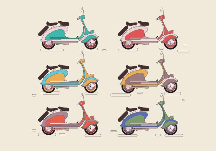 Lambretta Colorful Vector