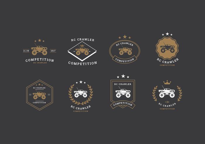 RC Crawler Competiton Logo Vector grátis