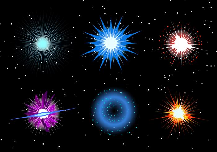 Vetor de exsplosão de supernova