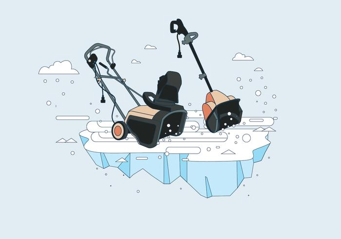 Snow Blower Vector