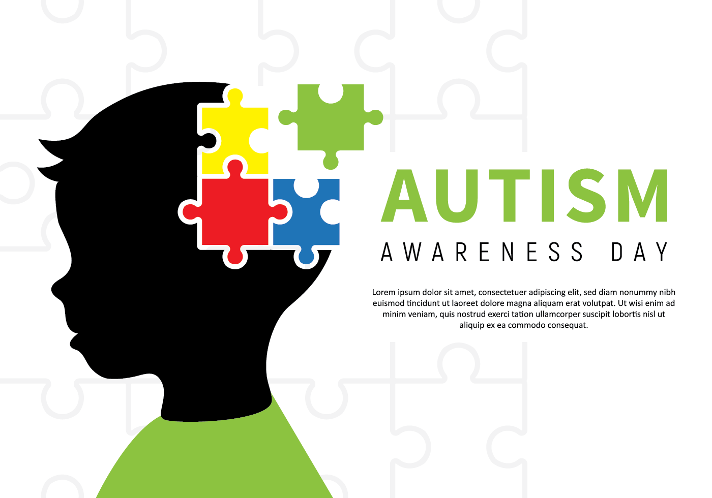 Autism Awareness Children Poster - Download Free Vectors ...