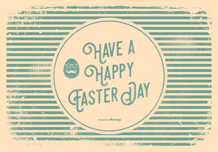 Hipster Style Easter Greeting Illustration