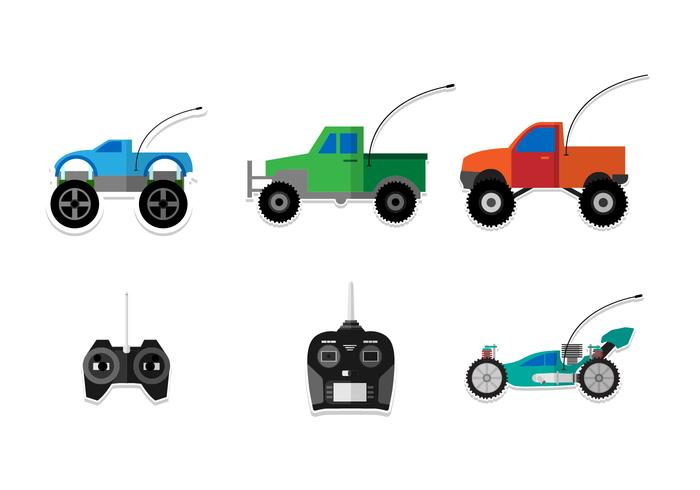 Flat RC Car Vectors