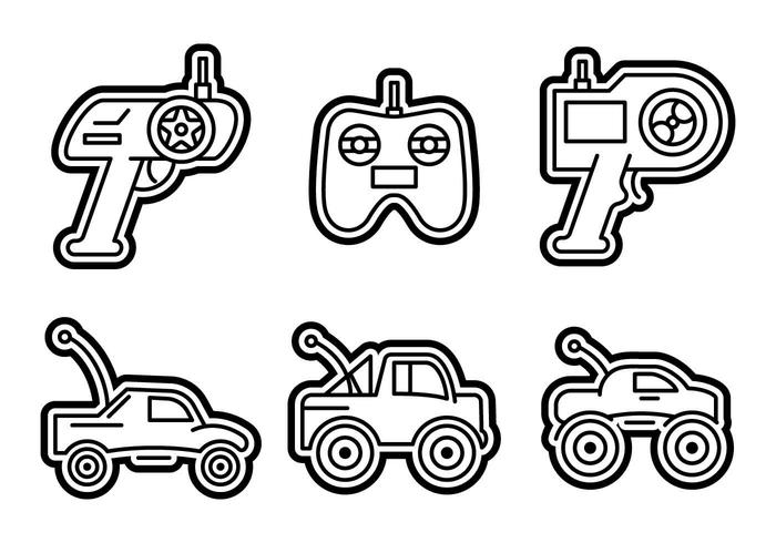 Free Outstanding RC Car Vectors