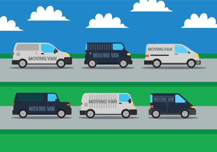 Spostando il set vettoriale di furgone
