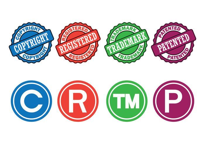 Droits d'auteur Symboles Set vecteur