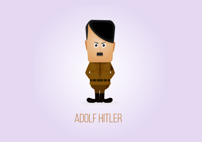 Adolf hitler charicature konstruktion
