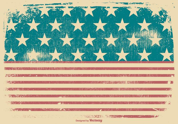 Grunge American Patriotic Background