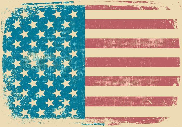 American Grunge Style Patriotic Background