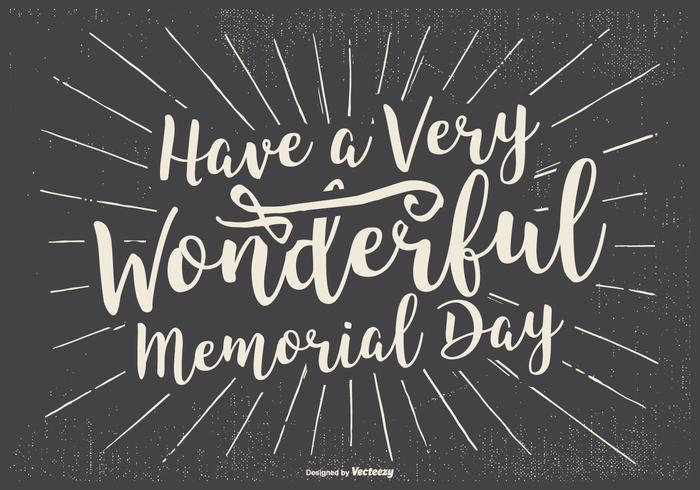 Typographic lycklig Memorial Day Illustration