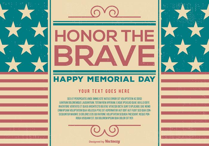 Vintage Memorial Day Template
