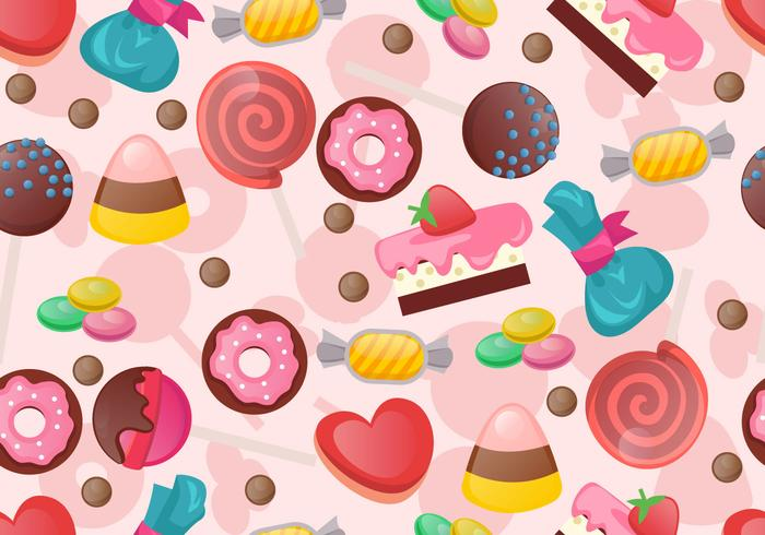 Seamless Pattern Of Sweet Candy
