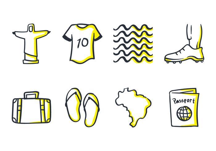 Brazil Doodle Icon