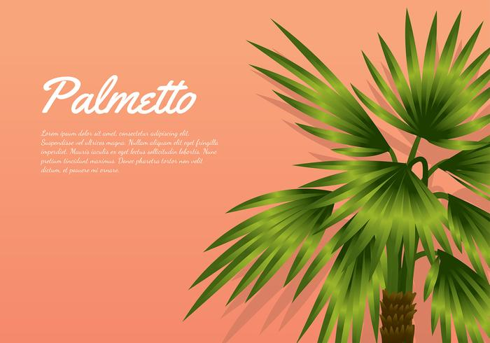 Palmetto Peach Background Free Vector