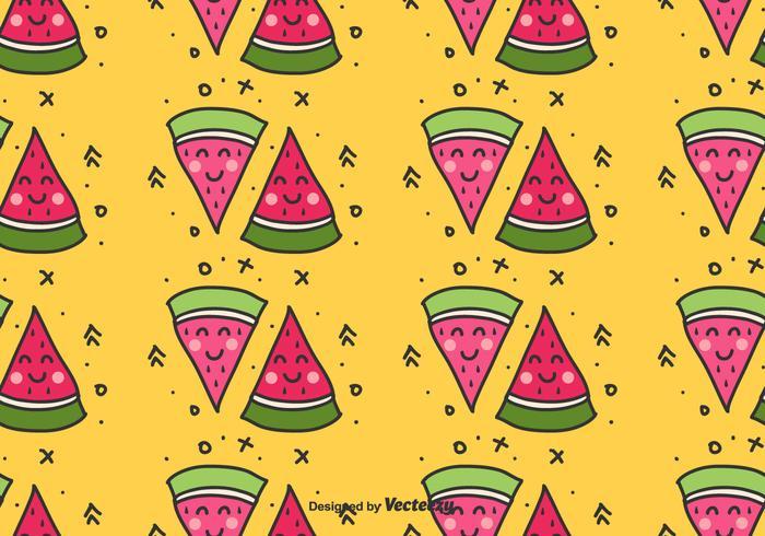 Watermelon Doodle Pattern