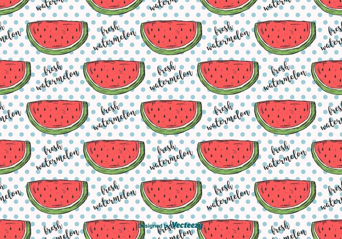 Hand Drawn Watermelon Pattern