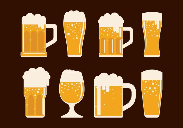Ícones do vetor Cerveja Set