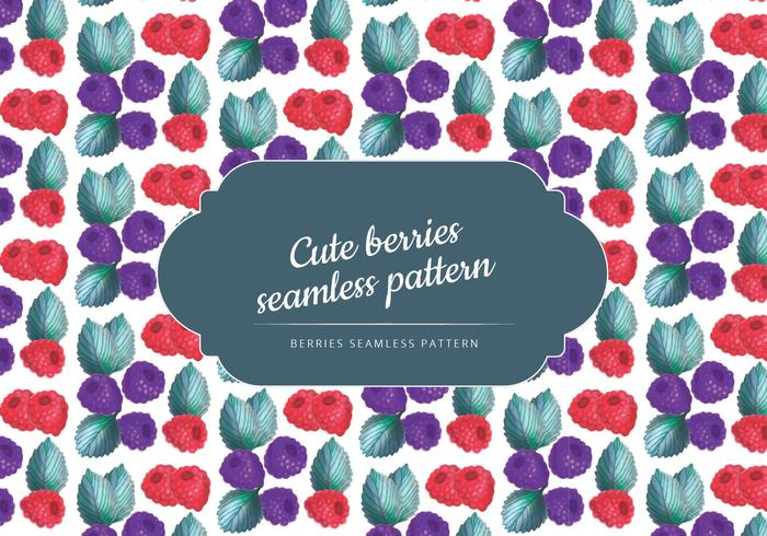 Vector Hand Drawn Berries Seamless Pattern
