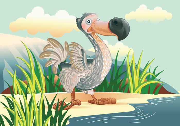 Dodo Bird Cartoon Character Vector