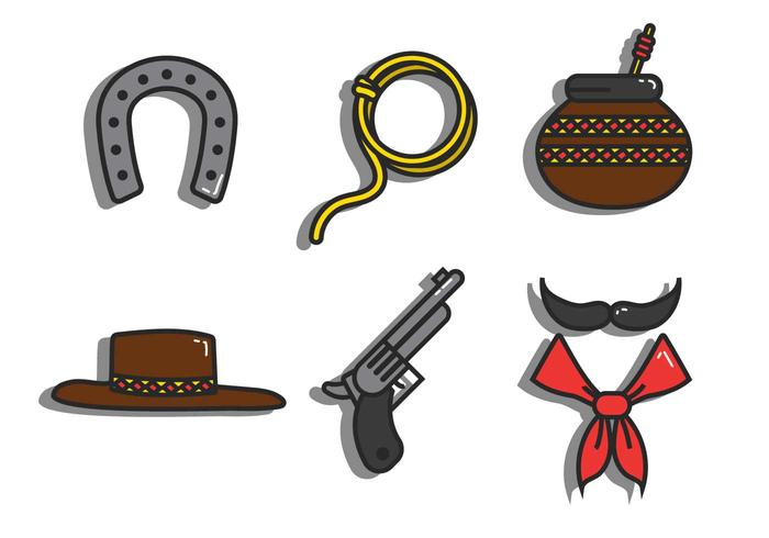 Gaucho vector icon set