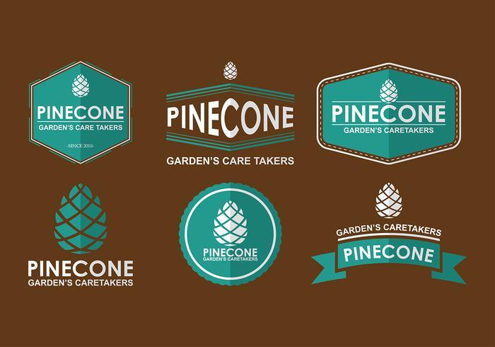 Pine cones Logo Free Vector