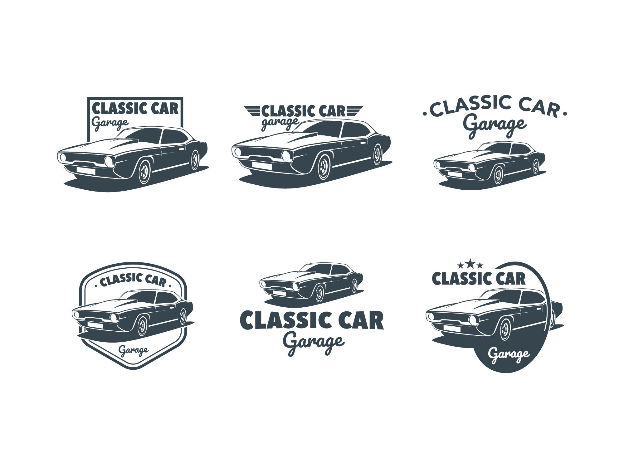 Classic Muscle Car Emblem Vector - Download Free Vectors ...