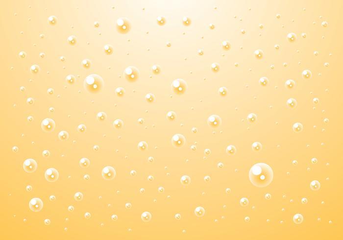 La carbonatación de burbuja Ilustración vectorial