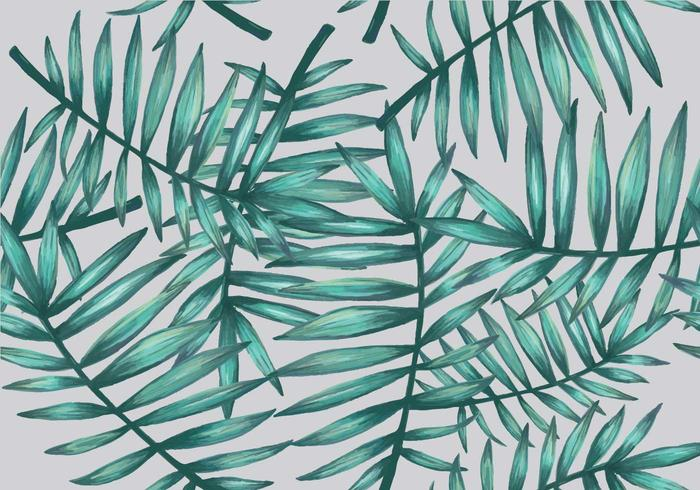 Palmetto Seamless Pattern Vector