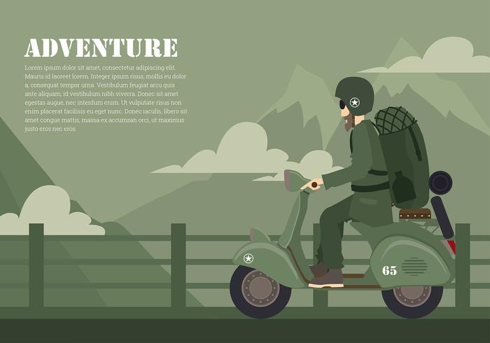 Scooter Adventure Gratis Vector