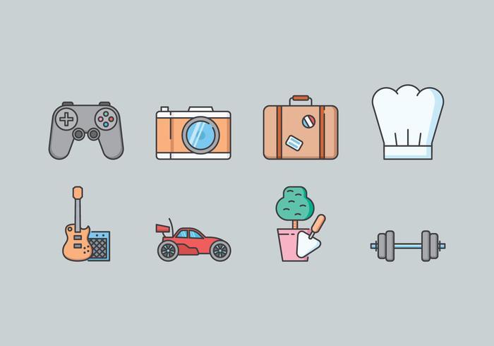 Hobby Icon Set