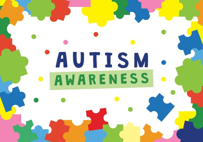 Conciencia del autismo del cartel del vector