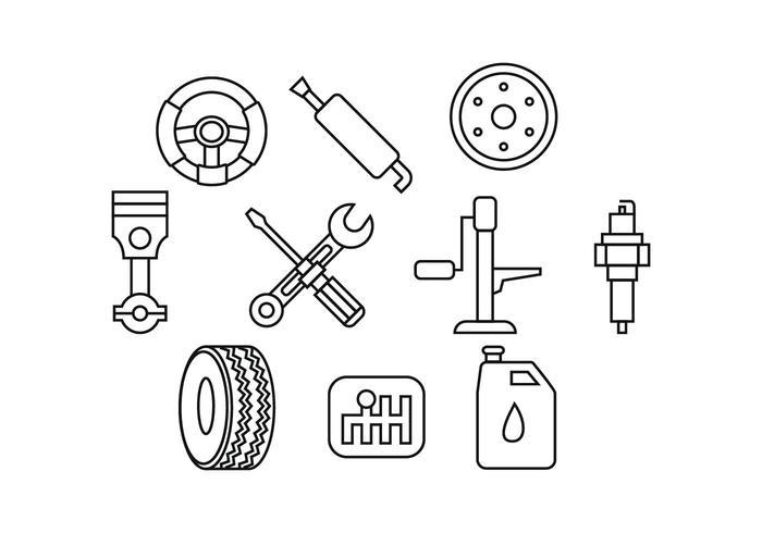 Free Automotive Line Icon Vector