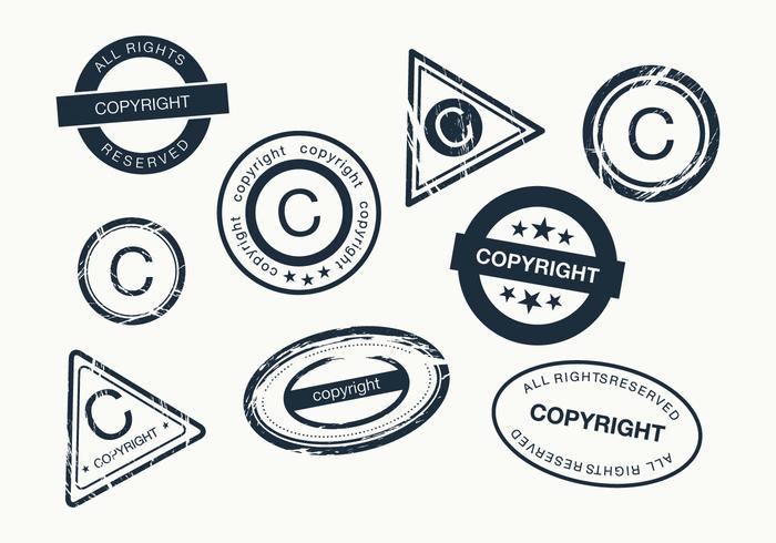 Vector de los derechos de autor