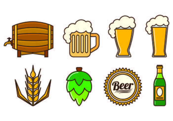 Set Of Cerveja Icons