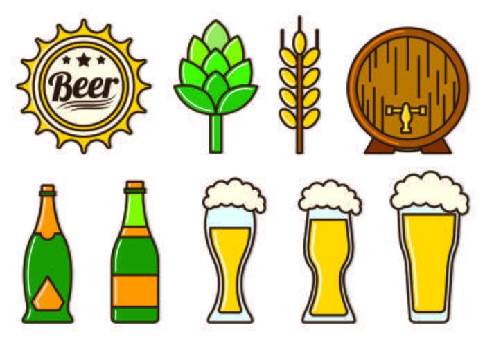 Set Of Cerveja Icons