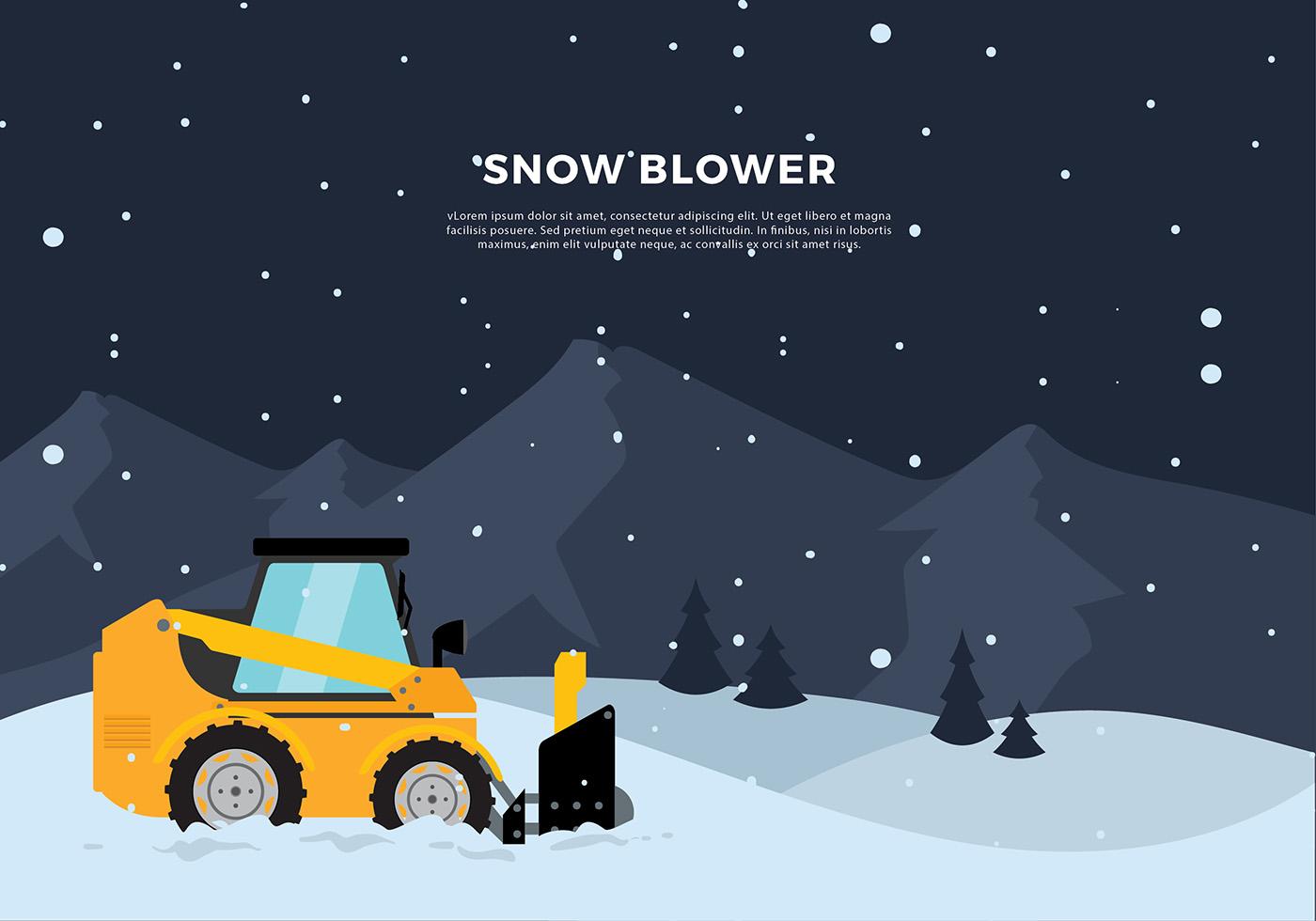 Snow Blower Tractor Free Vector Download Free Vectors