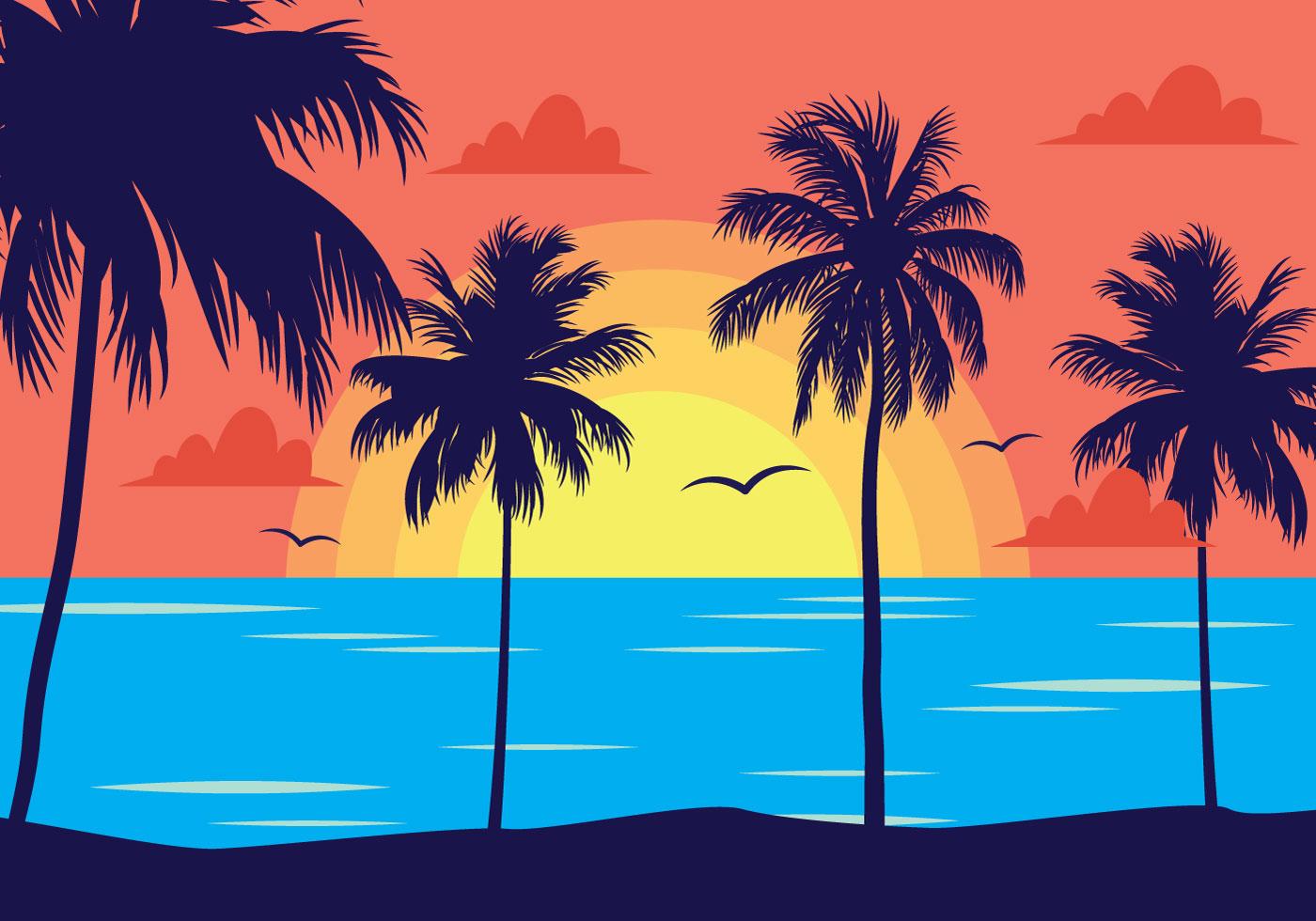 vector scenery tropical - photo #16