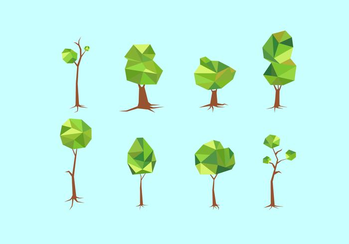Polygonal Tree With Roots Free Vector