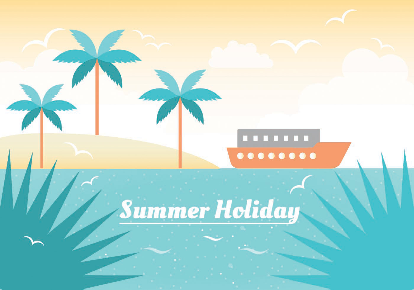Free Summer Vacation Vector Illustration - Download Free ...